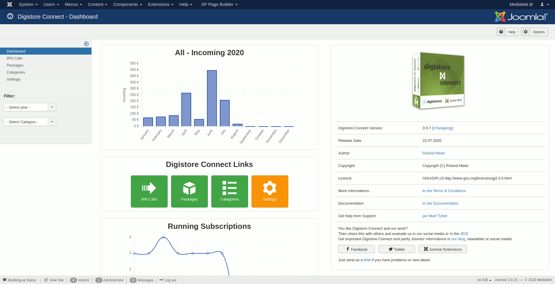 Digistore Connect Dashboard